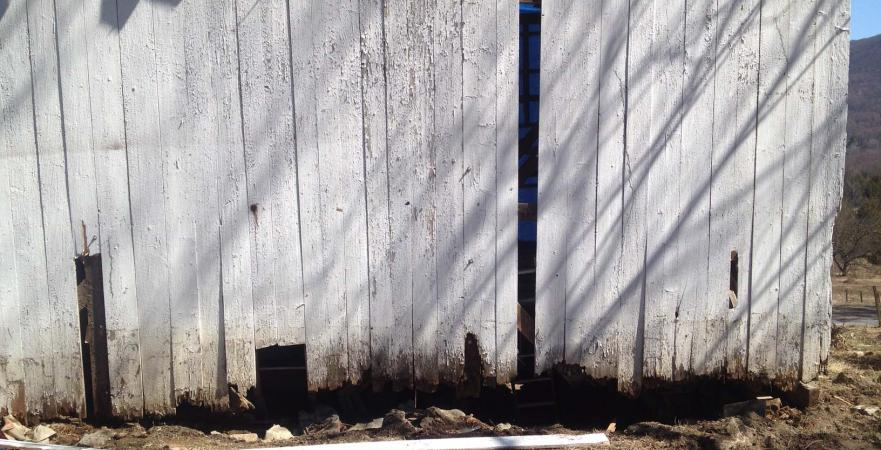 rotted barn siding