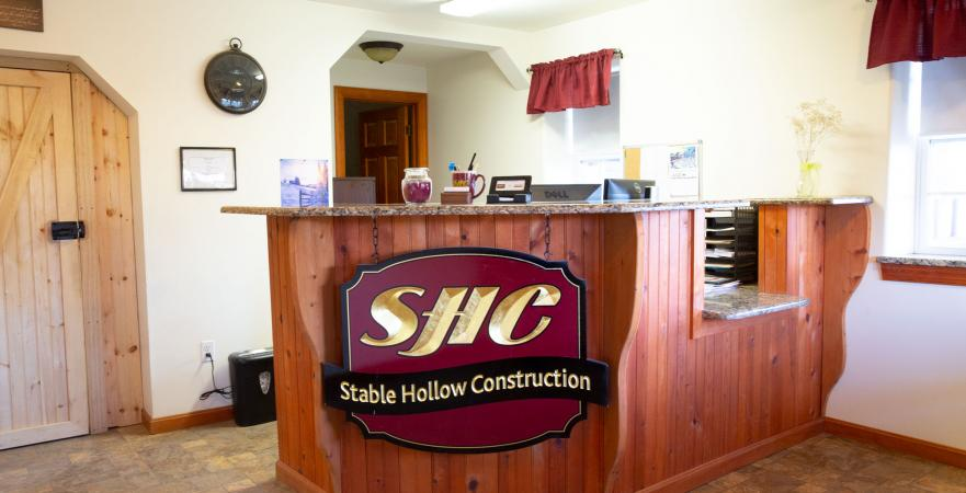 Inside the Stable Hollow Construction Office