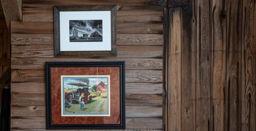 pictures and painting of an old barn