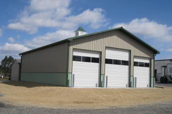 Commercial Building with overhead doors