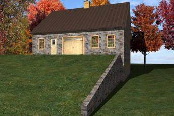 3D drawing of new bank barn