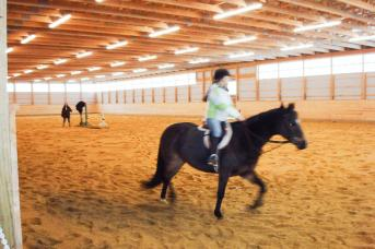 Horse barn and riding arena built by Stable Hollow Construction