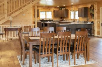 Retreat kitchen and dining room