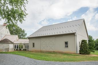 Bank Barn Attached to House
