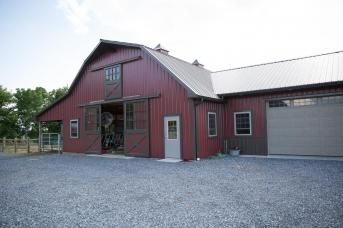 Horse Barn with attached Garage.