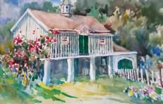 Painting of barn