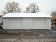 This two-car garage is one of several projects done by SHC for Carol Thomas.