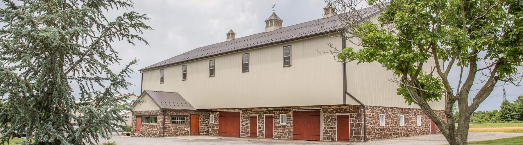Bank barn renovated by Stable Hollow Construction.
